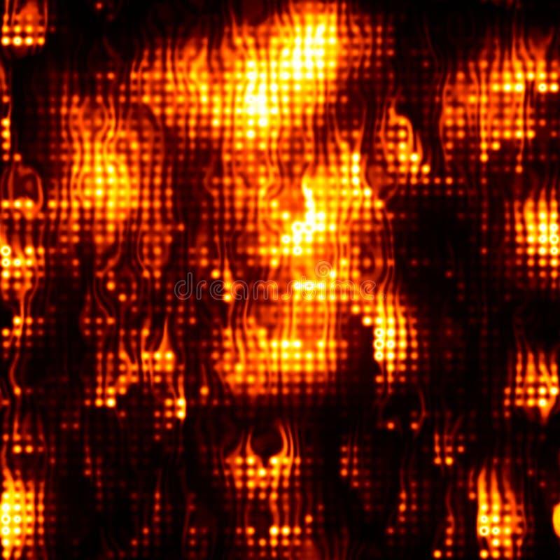 De achtergrond van de de vlamtextuur van de uitbarstingsbrand High-resolution veelhoekige textuur van het het netnetwerk van de m royalty-vrije illustratie