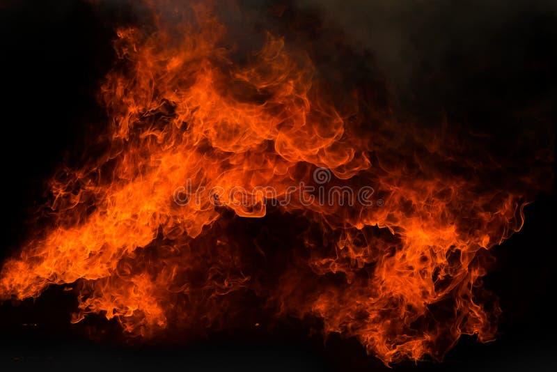 De achtergrond van de de vlamtextuur van de uitbarstingsbrand royalty-vrije stock fotografie