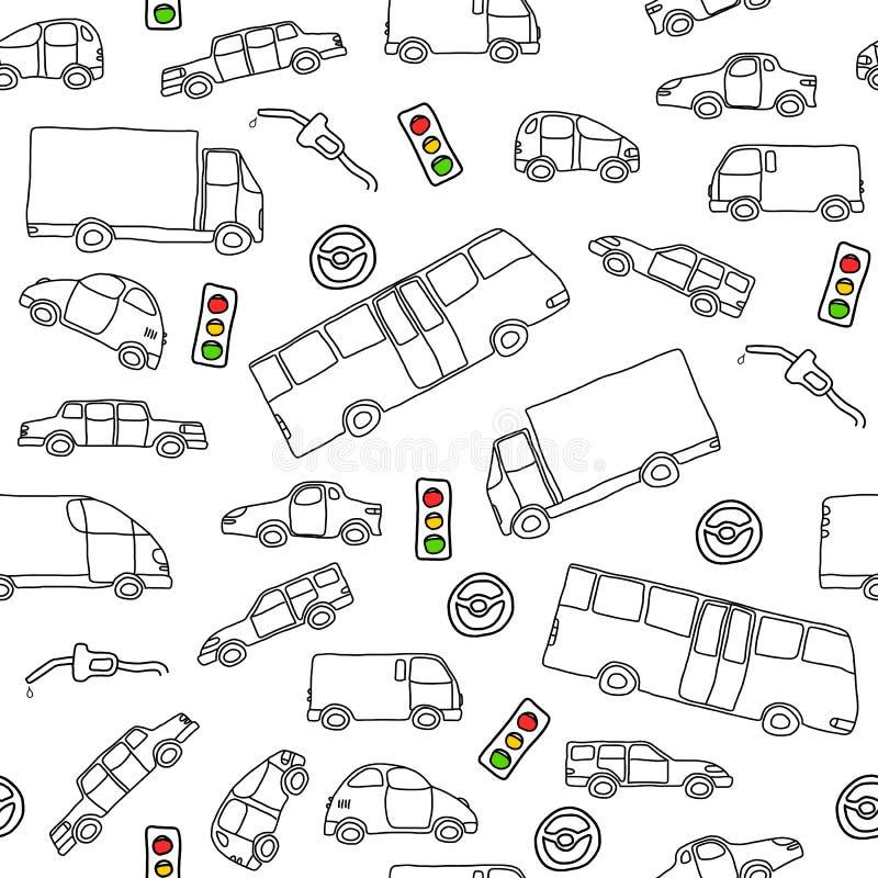 Download De Achtergrond Van Voertuigen Vector Illustratie - Illustratie bestaande uit leuk, brandstof: 29501751