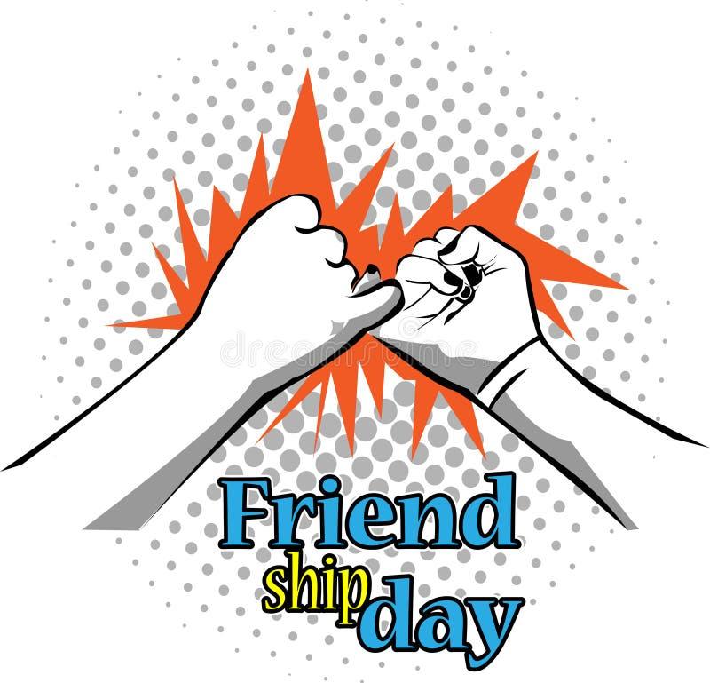De achtergrond van de vriendschapsdag, vlak ontwerp royalty-vrije illustratie