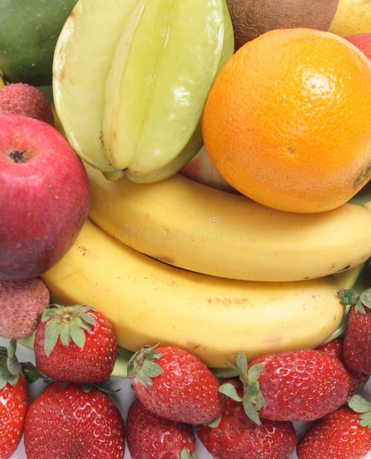 De achtergrond van vruchten stock foto