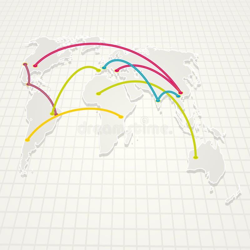 De Achtergrond van Wereldhandel royalty-vrije illustratie