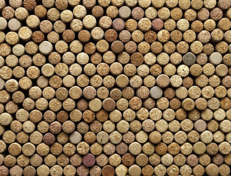 De achtergrond van wijn kurkt royalty-vrije stock foto