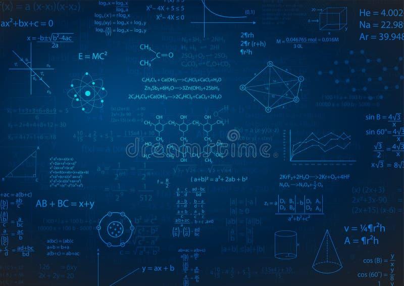 De achtergrond van de wiskundeformule stock illustratie