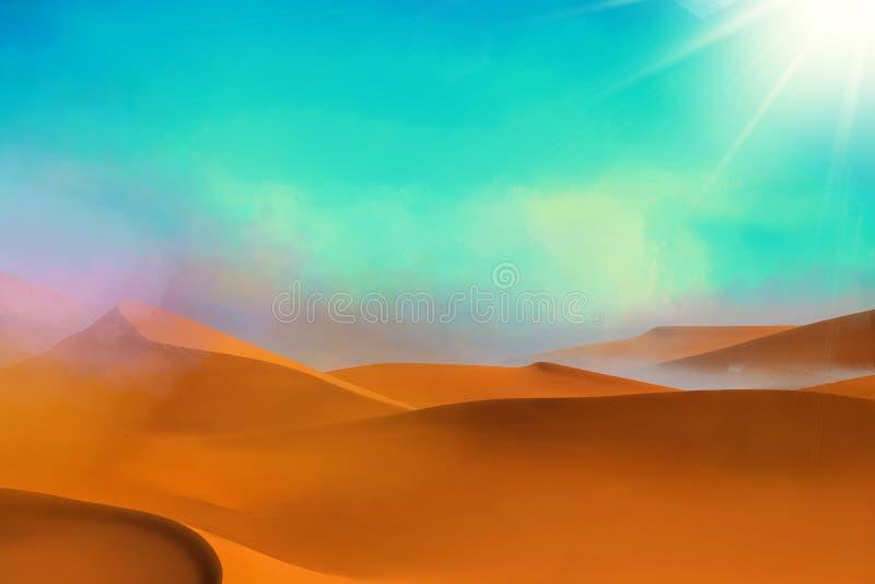 De achtergrond van woestijnduinen royalty-vrije stock afbeeldingen