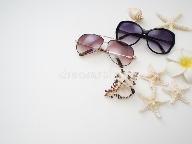 De achtergrond van de de zomervakantie, Strandtoebehoren royalty-vrije stock foto