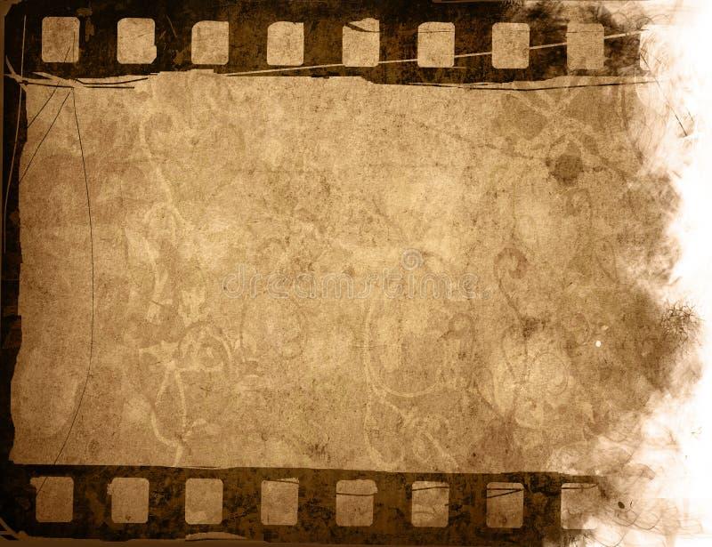 De achtergronden van de de filmstrook van Grunge royalty-vrije illustratie