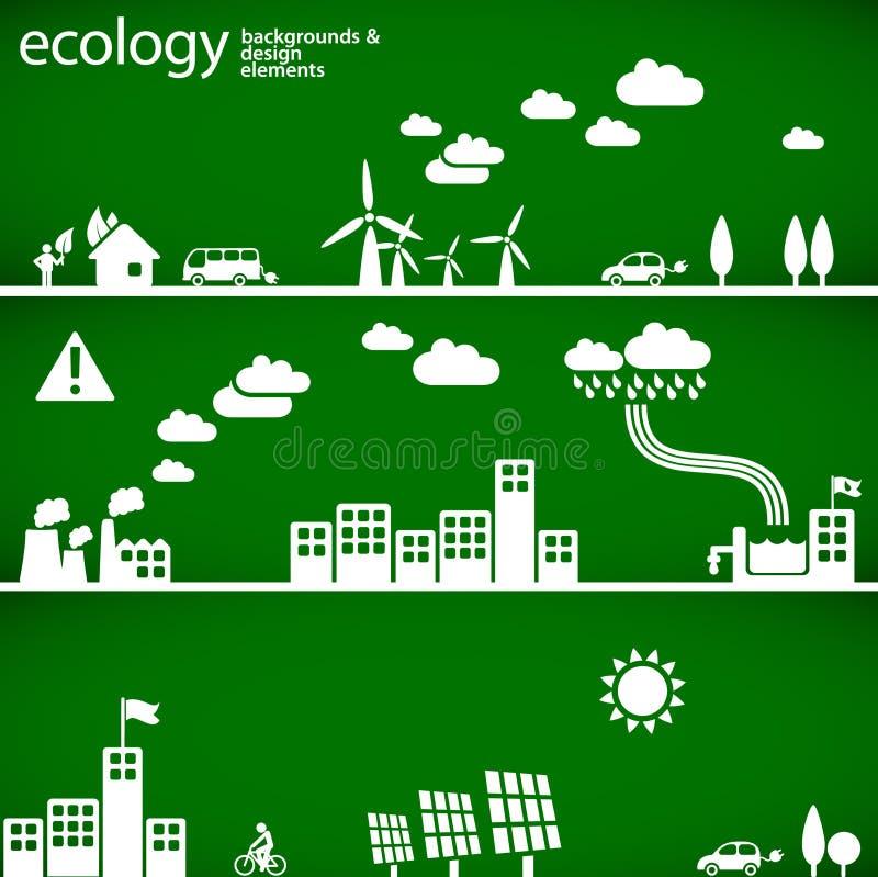 De achtergronden van de ecologie royalty-vrije illustratie