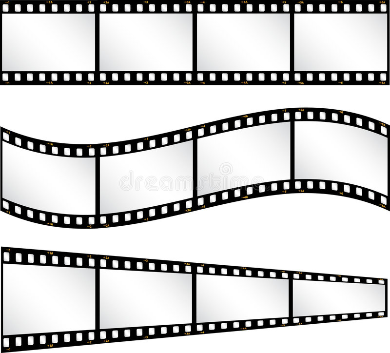 De achtergronden van de filmstrip vector illustratie
