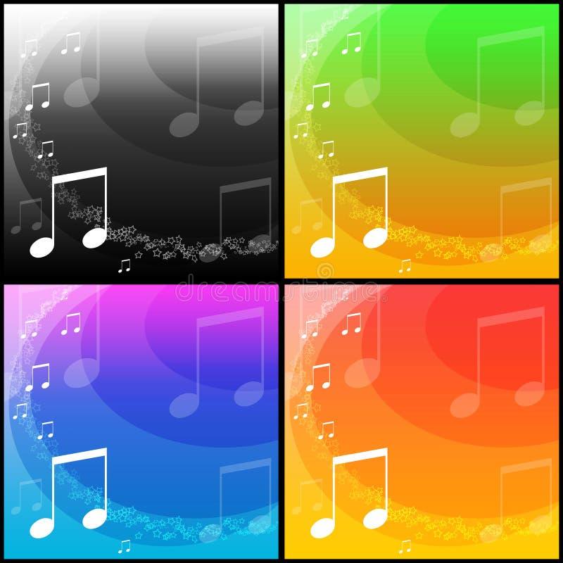 De achtergronden van de muziek stock afbeeldingen