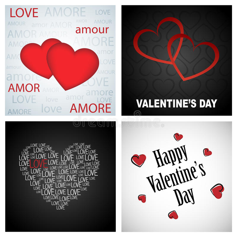 De achtergronden van de valentijnskaart stock illustratie
