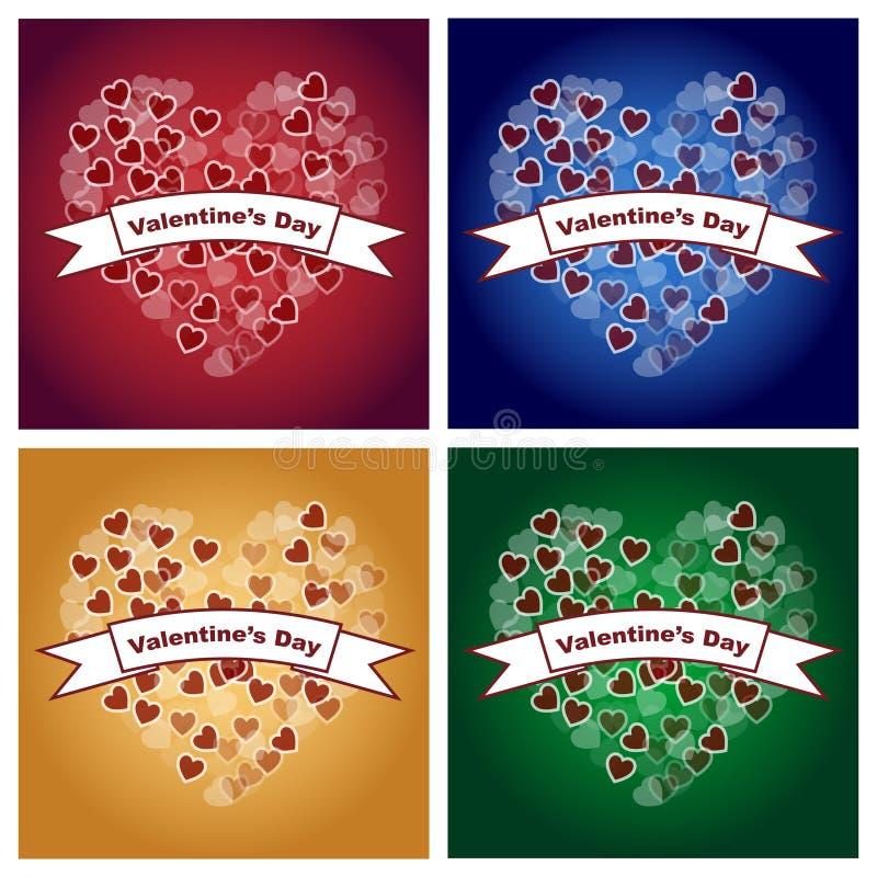 De achtergronden van de valentijnskaartendag royalty-vrije illustratie