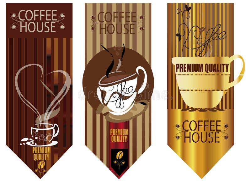 De achtergronden van het koffiehuis royalty-vrije illustratie
