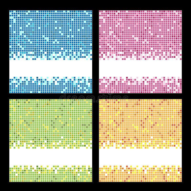 De achtergronden van het mozaïek vector illustratie