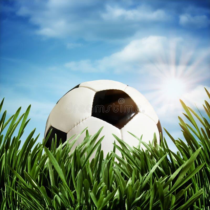 De achtergronden van het voetbal stock foto