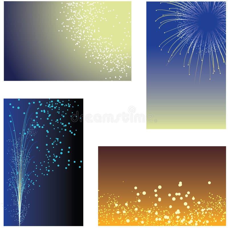 De achtergronden van het vuurwerk vector illustratie