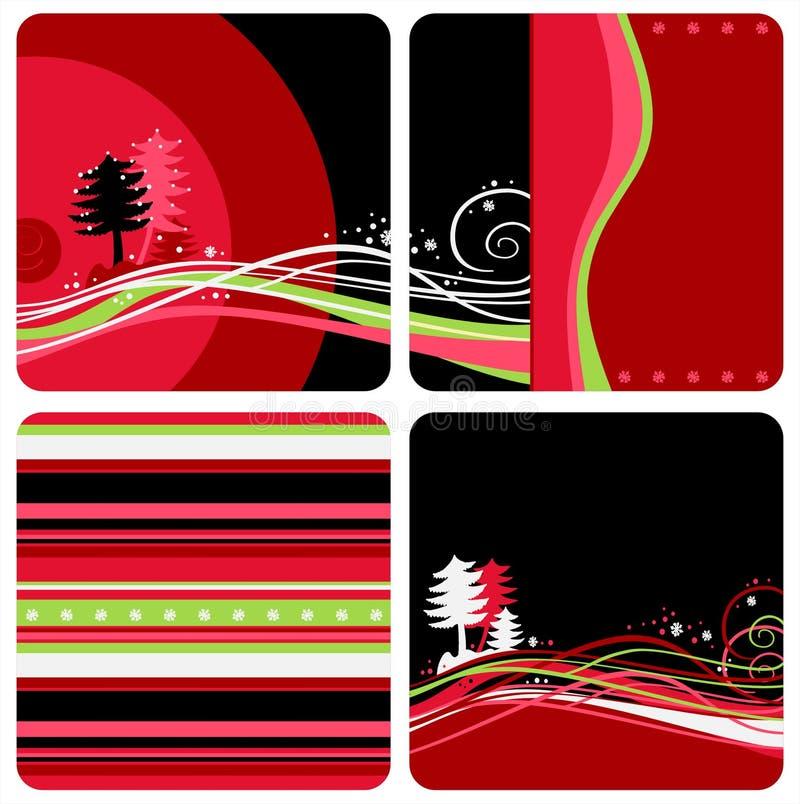 De achtergronden van Kerstmis vector illustratie