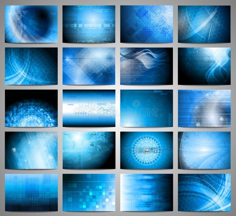 De achtergrondeninzameling van technologie vector illustratie