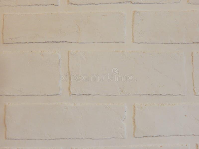 De achtergrondmuur van dit witte baksteenpleister royalty-vrije stock foto