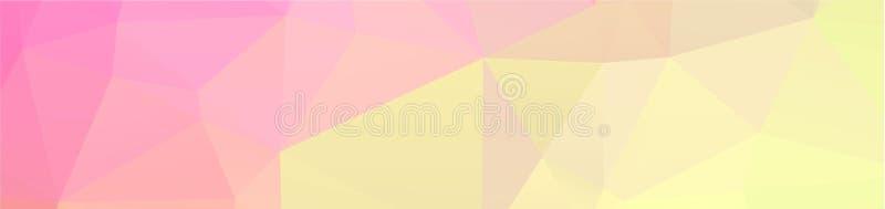 de achtergrondontwerp Geometrische achtergrond in Origamistijl en het abstracte mozaïek met gradiënt vullen Kleur rechthoek stock illustratie