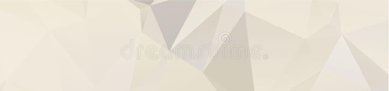de achtergrondontwerp Geometrische achtergrond in Origamistijl en het abstracte mozaïek met gradiënt vullen Kleur rechthoek royalty-vrije illustratie