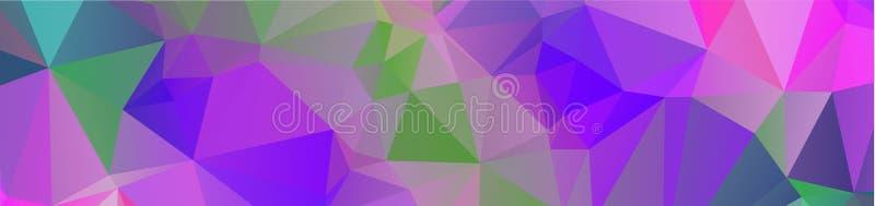 de achtergrondontwerp Geometrische achtergrond in Origamistijl en het abstracte moza?ek met gradi?nt vullen Kleur rechthoek vector illustratie