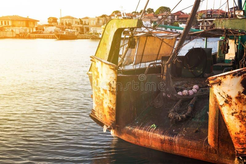 De achterkant van een visserijtreiler royalty-vrije stock foto