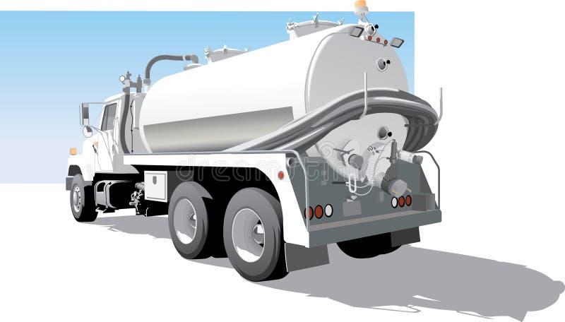 De Achterkantmening van de pompvrachtwagen stock illustratie