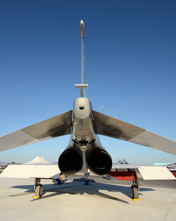 De achtermening van Jetfighter stock foto