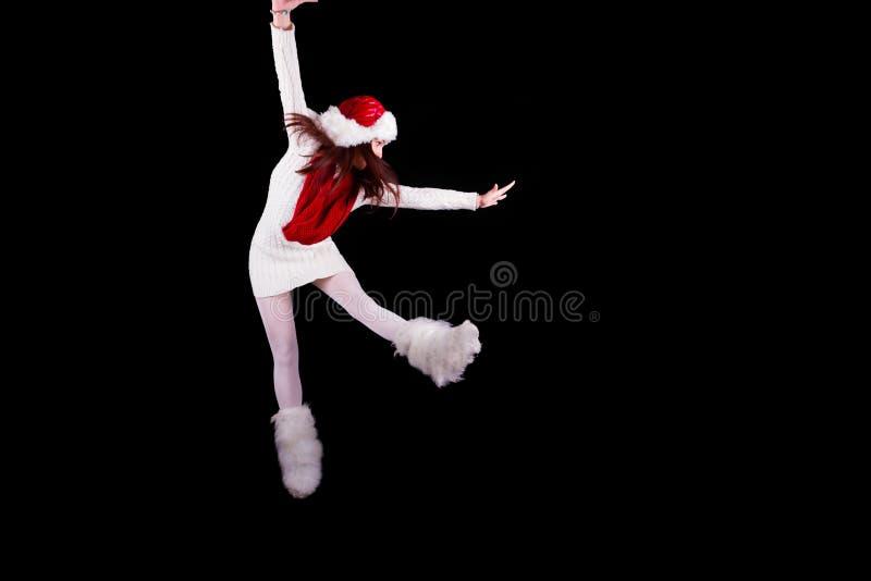 De acrobaat van het Kerstmiself stock afbeelding