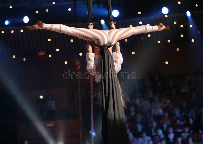 De acrobaten van de lucht stock foto