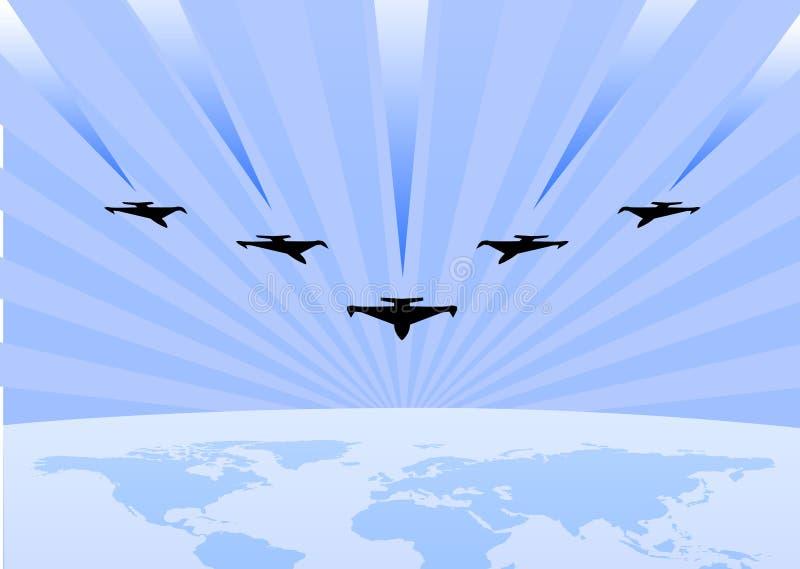 De acrobatische lucht toont tentoonstelling stock illustratie