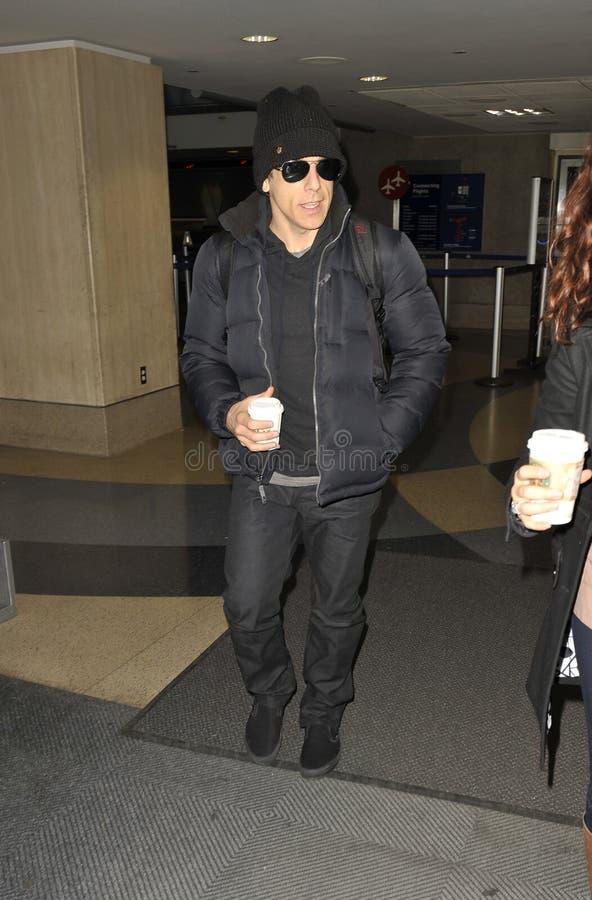 De acteur Stillere Ben wordt gezien bij LOSSE luchthaven, CA royalty-vrije stock foto