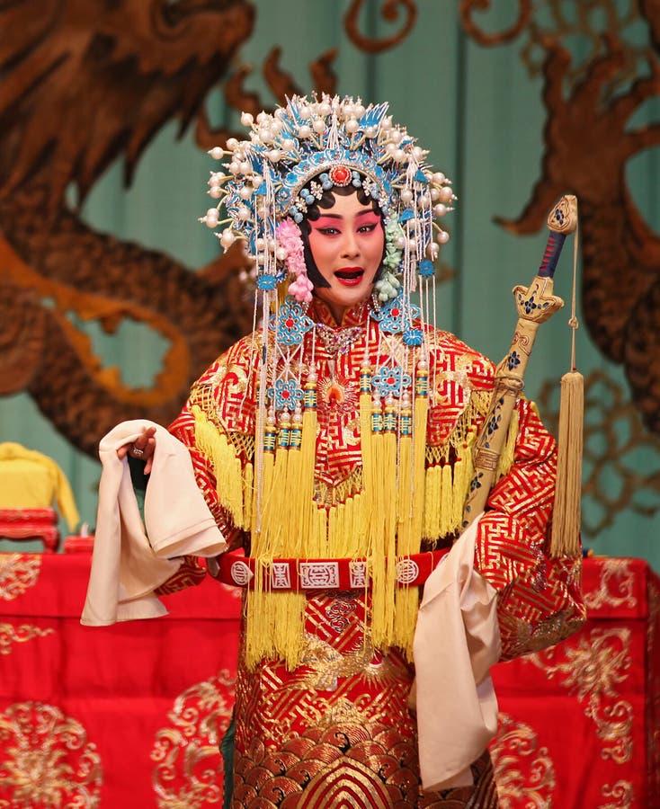 De acteur van de Opera van Peking stock foto