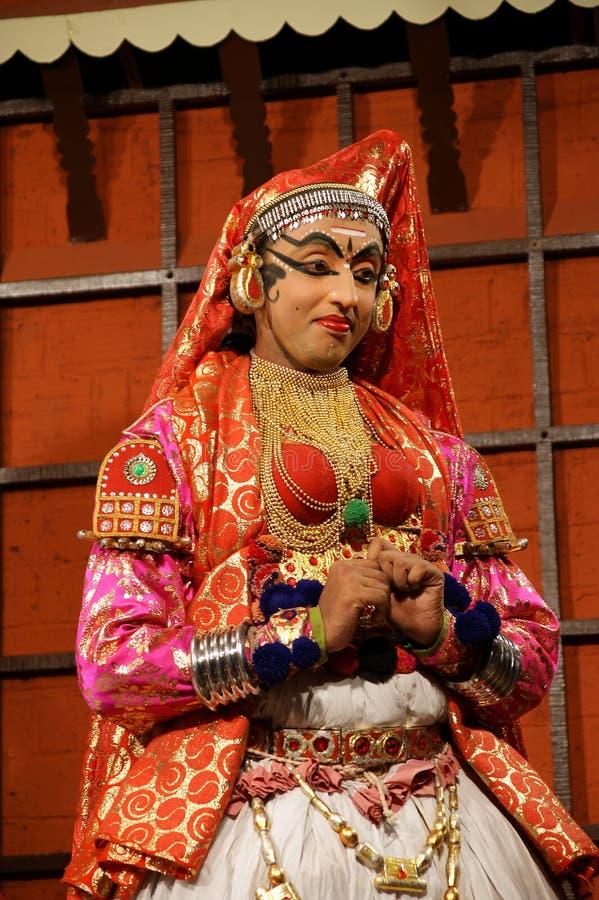 De acteur van de tradionaldans van Kathakali Kochi (Cochin), India royalty-vrije stock fotografie