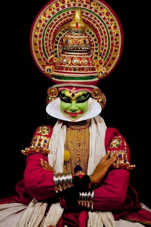 De acteur van Kathakali royalty-vrije stock fotografie