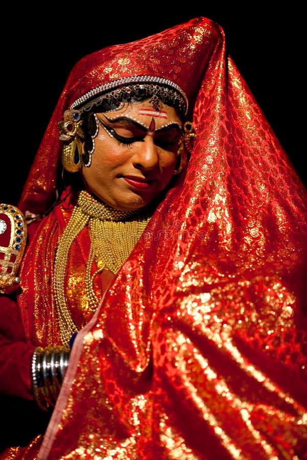De acteur van Kathakali in India stock afbeelding