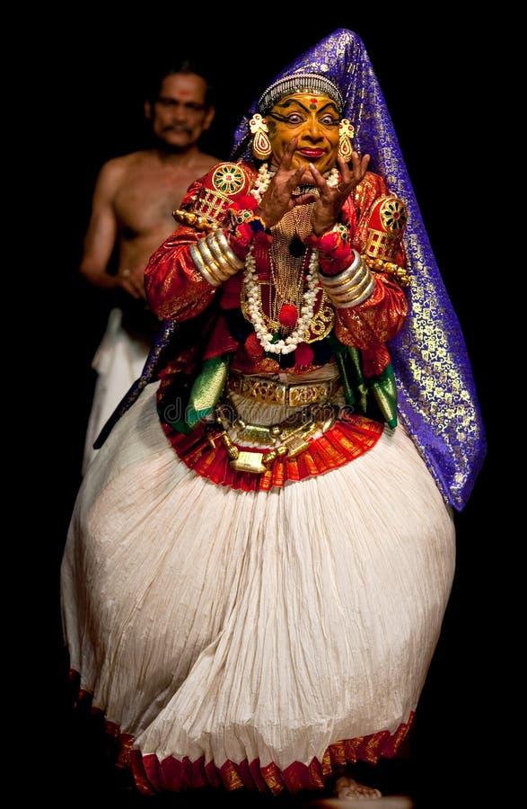 De acteur van Kathakali in Kerala, Zuid-India royalty-vrije stock fotografie