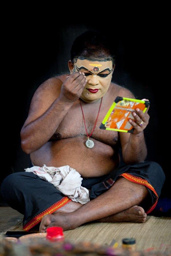 De acteurssamenstelling van Kathakali stock afbeelding