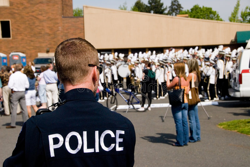 De Actie van de politie stock afbeeldingen