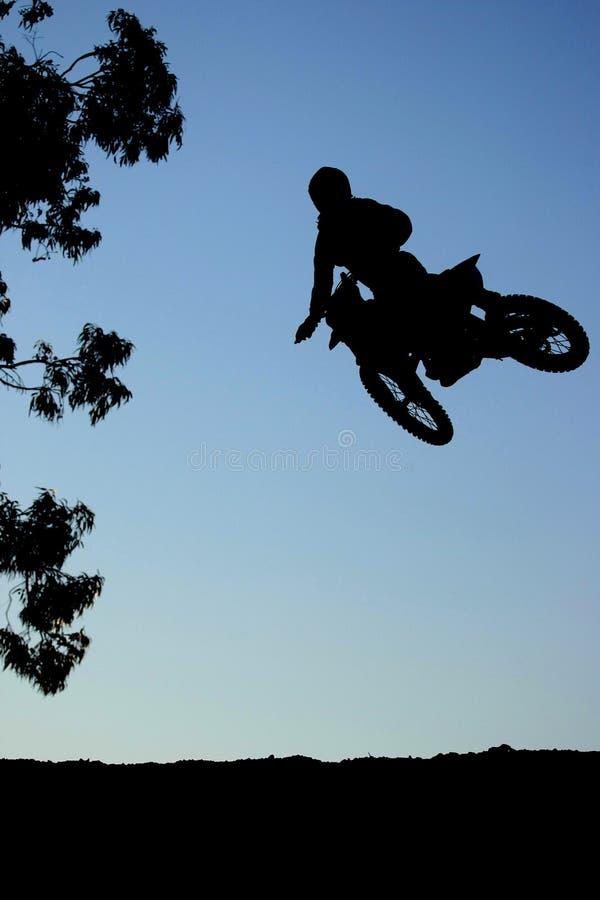 De Actie van de Sprong van Motorcross royalty-vrije stock foto's