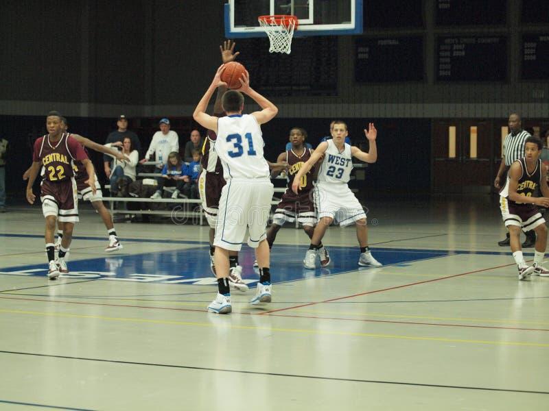 De Actie van het basketbal stock foto's