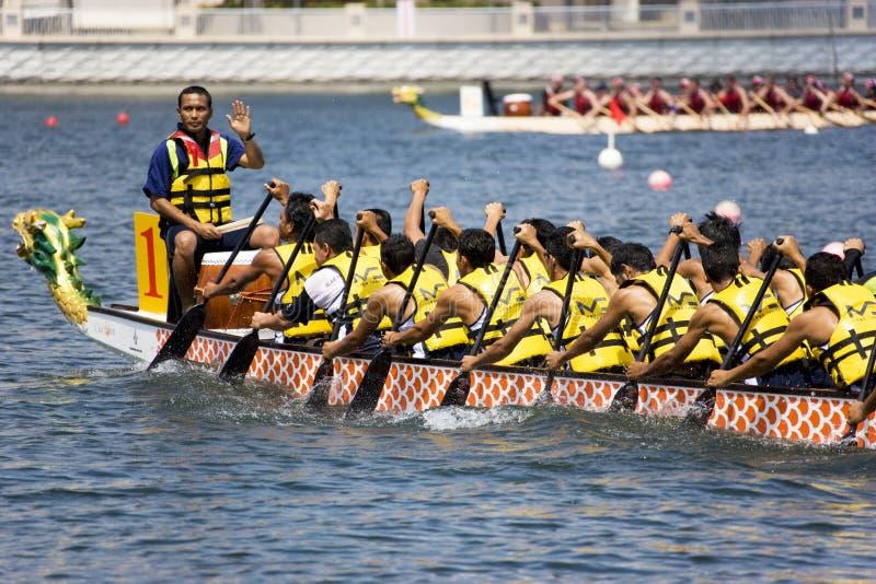 De Actie van het Ras van de Boot van de draak royalty-vrije stock fotografie