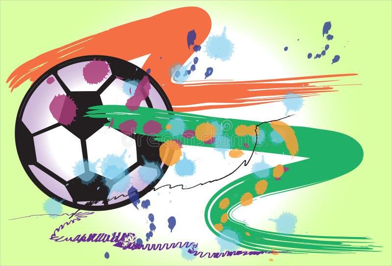 De actieborstel van de voetbalkunst royalty-vrije illustratie
