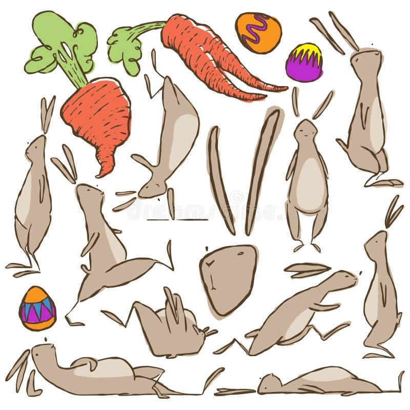 De actieve vectorillustratie van het Paashaaskarakter vector illustratie