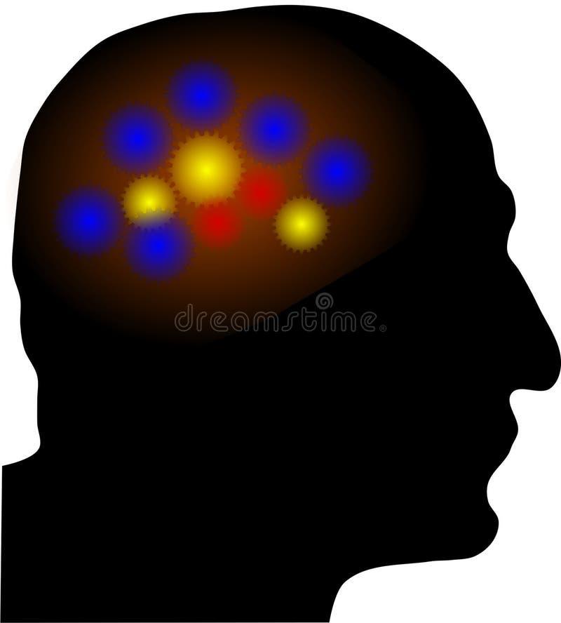 De activiteit van hersenen stock foto's