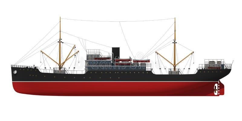 De activiteiten van de haven in Hamburg royalty-vrije illustratie