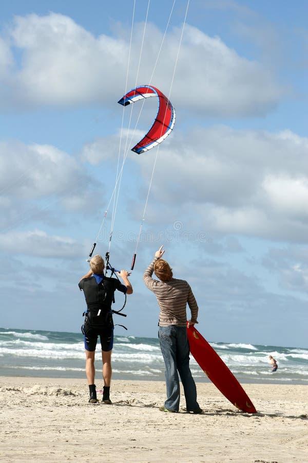 De activiteiten van het strand: vlieger stock fotografie