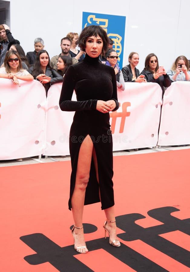 De actrice Jackie Cruz bij première van ` dit verandert alles ` bij Internationaal de Filmfestival van Toronto van 2018 , #metoo royalty-vrije stock foto's