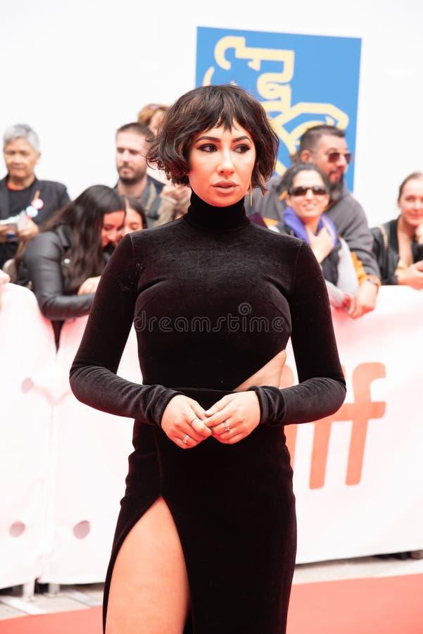 De actrice Jackie Cruz bij première van ` dit verandert alles ` bij Internationaal de Filmfestival van Toronto van 2018 , #metoo royalty-vrije stock fotografie